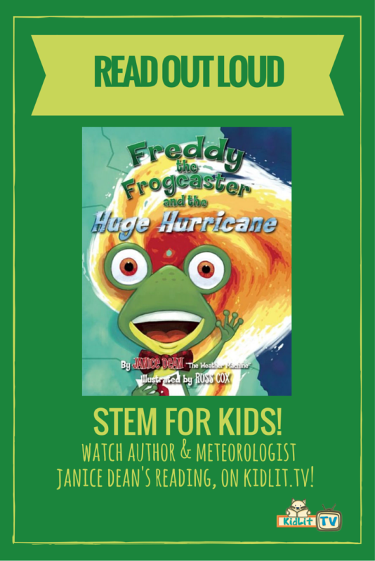 Janice Dean - Freddy the Frogcaster and the Huge Hurricane Pinterest Image