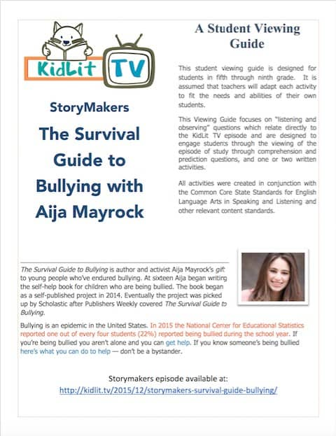 Survival Guide to Bullying - Student Guide Cover