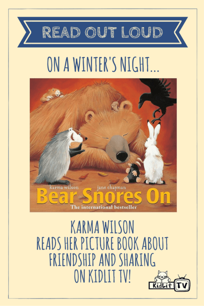 READ OUT LOUD - Karma Wilson (Bear Snores On) Pinterest