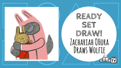 Ready Set Draw - Zachariah OHora Draws Wolfie
