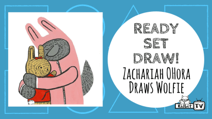 Ready Set Draw!  Zachariah OHora Draws Wolfie
