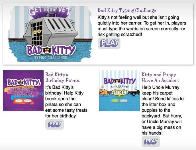 Bad Kitty - Nick Bruel - Games