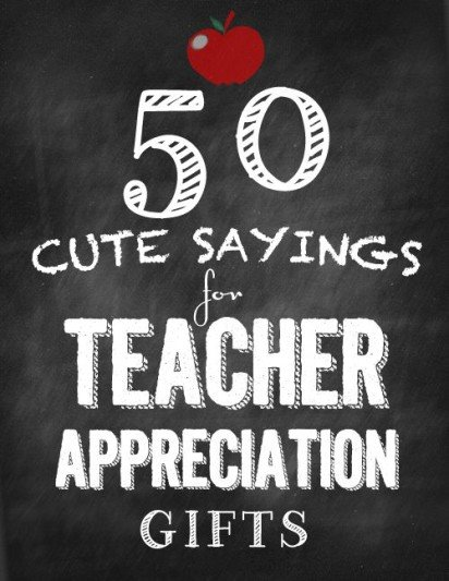 Top Teacher Appreciation Gift Ideas On Pinterest Kidlit Tv