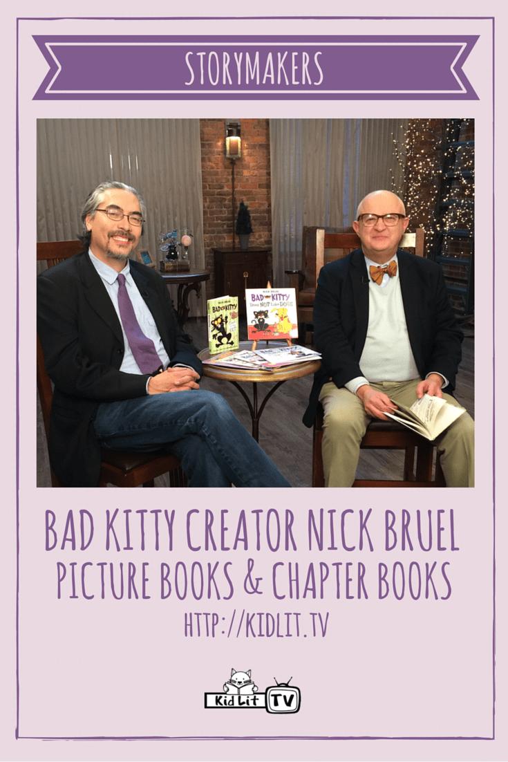StoryMakers - Nick Bruel (Bad Kitty) Pinterest Image