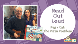 READ OUT LOUD - Jennifer Oxley & Billy Aronson - Peg + Cat_ The Pizza Problem Featured Image