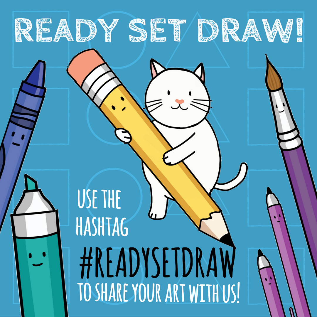 Use the hashtag #ReadySetDraw