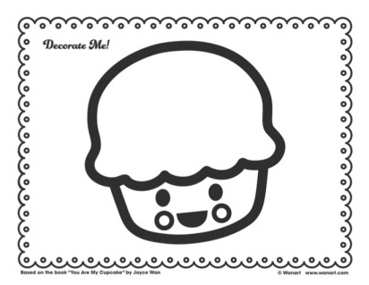 You Are My Cupcake Decorate Me Printable