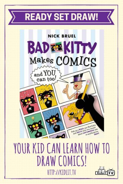 Ready Set Draw - Nick Bruel - Bad Kitty Makes Comics Pinterest Image