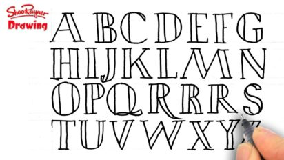 How to Draw Capital Letters