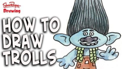 How to Draw Trolls – Easy for Kids