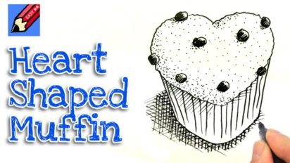 How to Draw a Heart Shaped Muffin