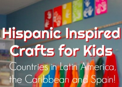 Here is a list of 30+ Hispanic inspired crafts for kids from countries in Latin America, the Caribbean, and Spain to celebrate Hispanic Heritage Month.