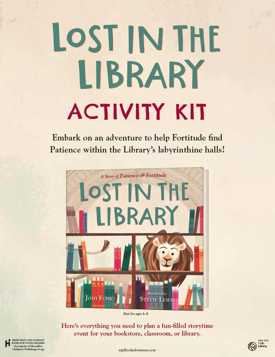 LOST IN THE LIBRARY Activity Kit - KidLit TV
