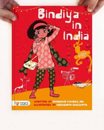 Weaving together Hindi and English, BINDIYA IN INDIA is the story of a young Indian American girl's first trip to India for a wedding.